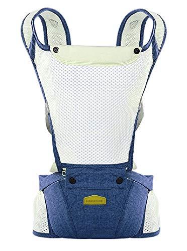 Marsupio porta bebé - ergonomico - Zaino - Zainetto - Leggero - Traspirante - Prima infanzia - Bambino - Neonato - Colore blu