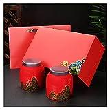 tarros Los Botes De Cerámica De 2 Piezas Fijaron con Tapa Y Caja De Regalo Té Café Azúcar Ollas De Almacenamiento Jarras De Contenedor Alimentos (Color : Container Set B)