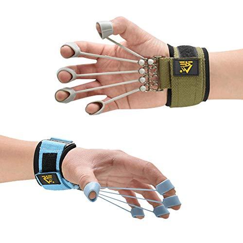 Finger Strengthener Exercise Trainer Hand Yoga Equipment for Finger Resistance Stretching Rehabilitation Fitness 20Lb+40Lb Assist
