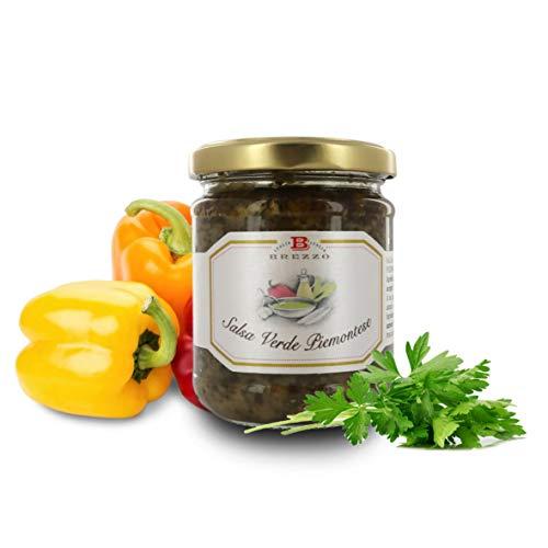 Salsa Verde Piemontese, Bagnetto Verde Ottimo per Bollito di Carne, 180 Grammi (Confezione da 2 Pezzi)