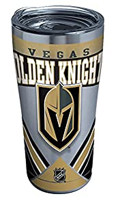 Tervis NHL Vegas Golden Knights Ice Stainless Steel Tumbler With Lid, 20 oz, Silver from Tervis