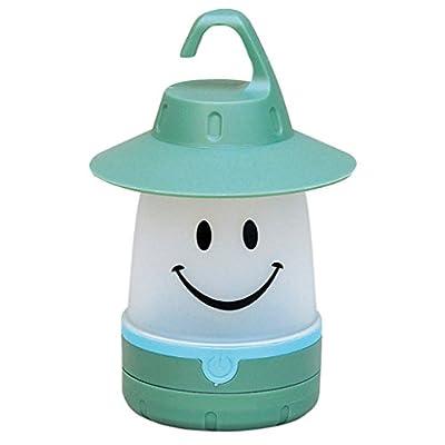 Smile LED Lantern: Portable Night Light Camping Lantern For Kids (Mint)