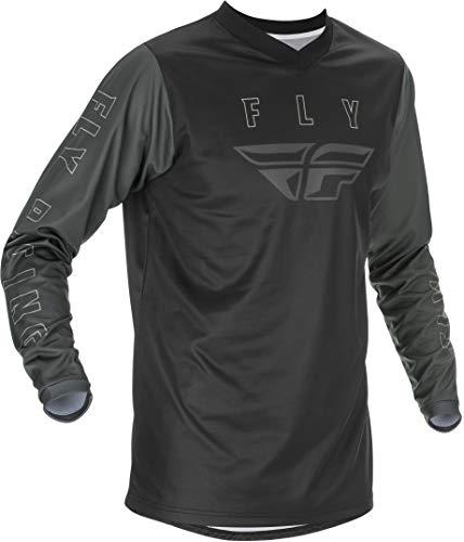 Fly Racing 2021 F-16 Motocross Downhill Enduro MX Jersey (Black, Grey, M)