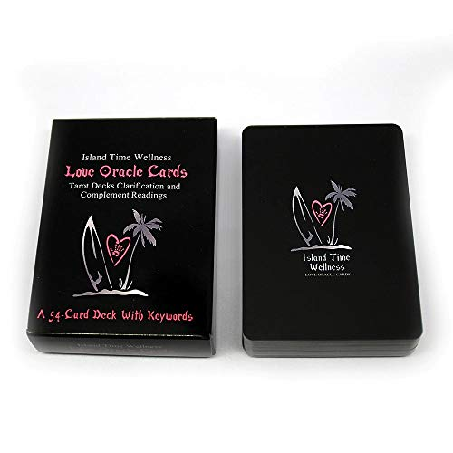 Island Time Wellness Love Oracle Cards Tarot Decks Clarification and Complement Readings a 54 Card Deck with Keywords Games