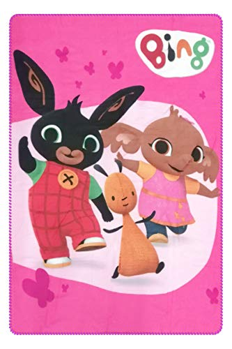 Character Cartoons - Plaid in Pile 100x140 cm - Full Print - Bambini e Bambine (Bing Rosa 476)