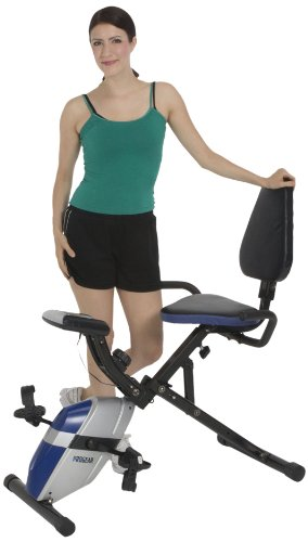 ProGear 190 Compact Recumbent Bike with Heart...