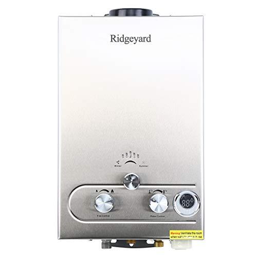 Iglobalbuy LPG Calentador de Agua Calentador de Agua de Gas Calentador de Agua LCD Digital Calentador de Agua Instantáneo Propane Gas Hot Water Heater 8L