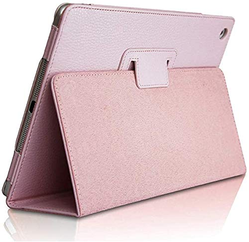 Bi-fold Series Litchi Stria Ultra Thin Magnetic,Bi-fold Series Litchi Stria Protective Cover,Tablet case is Universal,PU Leather Smart Cover,for Apple iPad 2/3/4 (Pink)
