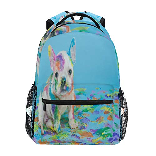 ALAZA French Bulldog Dog Puppy Backpack Daypack College School Travel Shoulder Bag