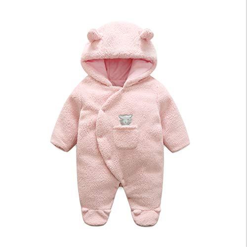BABIFIS Baby Jumpsuits, Lente Herfst Winter Roze Lam Fluwelen Romper Mannelijke En Vrouwelijke Baby 0-1 Jaar Oude Gewatteerde Jumpsuit Outfit