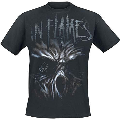 In Flames Ghost Männer T-Shirt schwarz L 100% Baumwolle Band-Merch, Bands, Nachhaltigkeit