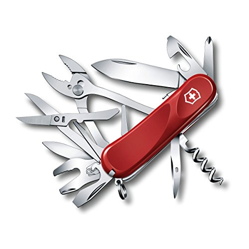 Victorinox Swiss Army Multi-Tool, Evolution S557 Pocket Knife, Red