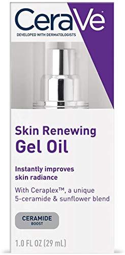 CeraVe Skin Renewing Gel Oil 1 oz Facial Moisturizer with Ceramides to Improve Skin Radiance