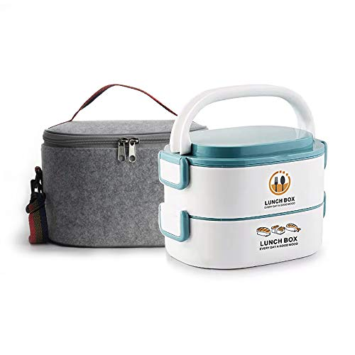 Lille Home 48oz Stackable Compartment Lunch Box