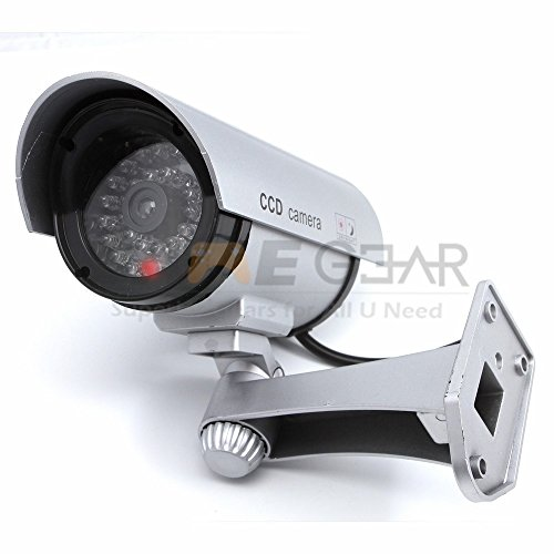Learn More About Bullet IR Fake Dummy Surveillance Security Camera with Light LED Sensor Sliver