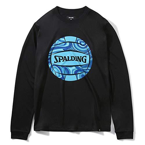 SPALDING(スポルディング) バレーボール バレーボール ロングスリーブTシャツ ネオンマーブルボール SMT201890 ブラック Mサイズ バレー