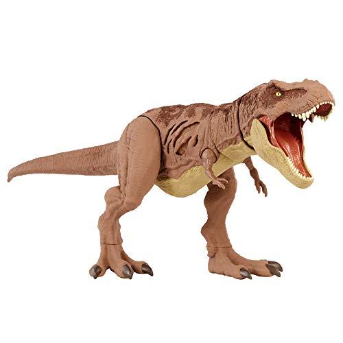 Jurassic World- T-Rex Danni Estremi, Dinosauro con Dettagli Realistici e Pulsante Attivazione Morso Estremo, Giocattolo per Bambini 4+ Anni, GWN26