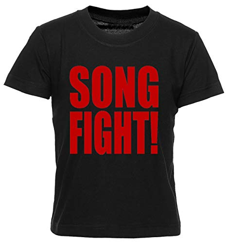Song Fight T-Shirt Jungen Mädchen Kinder T-Shirt Schwarz Boys Girls Kids Black