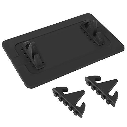 ASHATA TS030 Autotelefoonhouder houder voor desktop/telefoonhouder standaard universele houders voor telefoon/tablet-ondersteuning desktop, in het vliegtuig, in de auto (zwart)