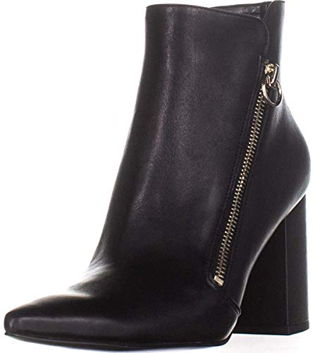 NINE WEST Womens Russity Pointed Toe Ankle Fashion Boots, Black Patent, Size 8.5