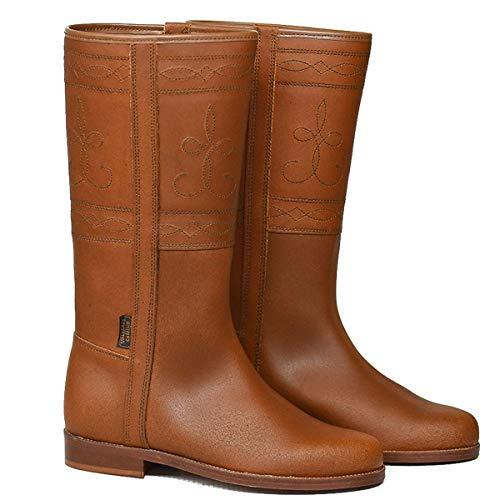 botosvalverde.es Stiefel Damen Herren Hellbraun Cowboy Boots Leder spanisch Valverde del Camino (44 EU)