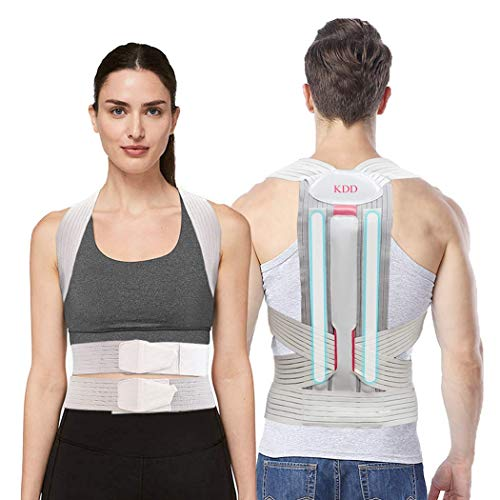 Back Posture Corrector for Women, Men, Teens - Replaceable Support - KDD Adjustable Upper Lower Back Brace For Clavicle Support, Providing Pain Relief From Neck, Back and Shoulder S