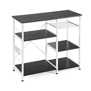 Mr IRONSTONE Kitchen Baker's Rack Utility Storage Shelf Microwave Stand 3-Tier+3-Tier Table for Spice Rack Organizer…