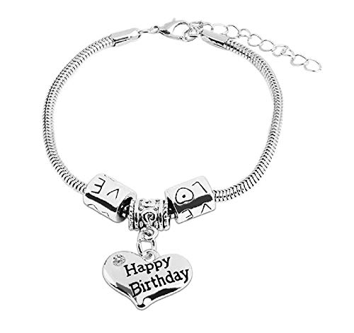 Familie - armband - vriendschap - motivatie - hanger - hart - man - vrouw - unisex - zilveren kleur - sieraden love happy birthay