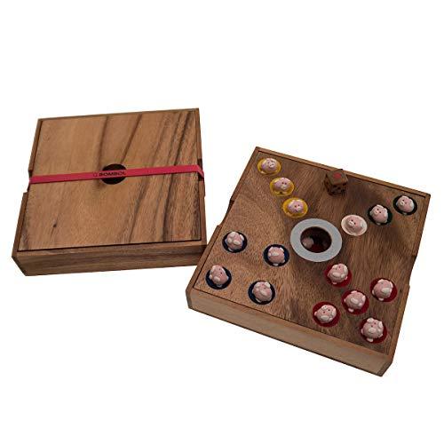 ROMBOL Ferkelspiel - Das Würfelspiel mit den süßen Ferkeln für die ganze Familie inkl. praktischem Verschlussband