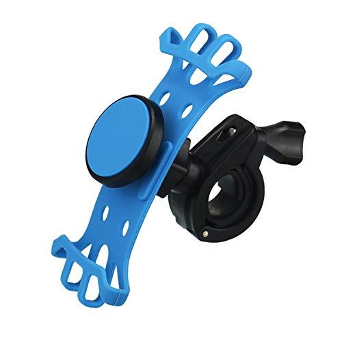 LJFZMD Soporte Motocicleta, Soporte para Teléfono con Imán para Bicicleta Eléctrica, Silicona Suave Anticaída, para Smartphones De 4'A 6.5',Azul
