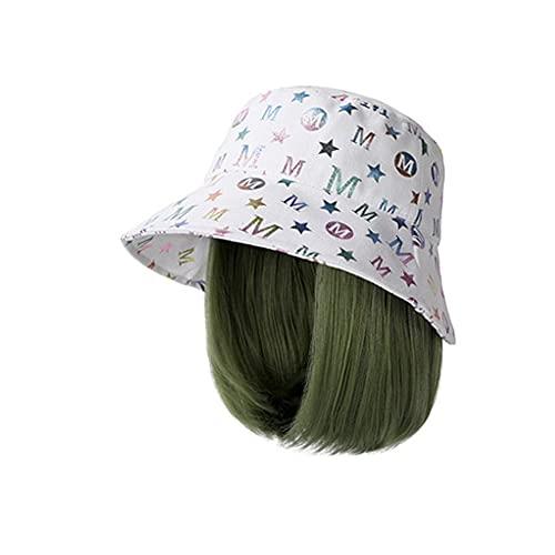 QIU Peluca de Gorra de béisbol Corta de Sombrero con Extensiones Cortas de Pelo Recto, Sombrero de Peluca sintética para Mujeres Gorro de béisbol Ajustable ( Color : H )