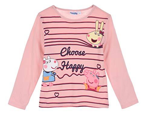 Peppa-Wutz Peppa Pig Mädchen Langarmshirt (Pink 4, 98)