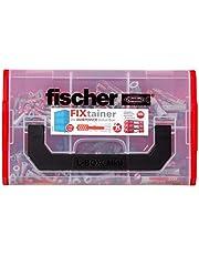 fischer Fixtainer DUOPOWER, Power & Slimme plugbox met 210 DUOPOWER pluggen (120 stk. 6 x 30, 60 stk. 8 x 40, 30 stuks 10 x 50), universele pluggen voor talrijke bouwmaterialen en bevestigingen