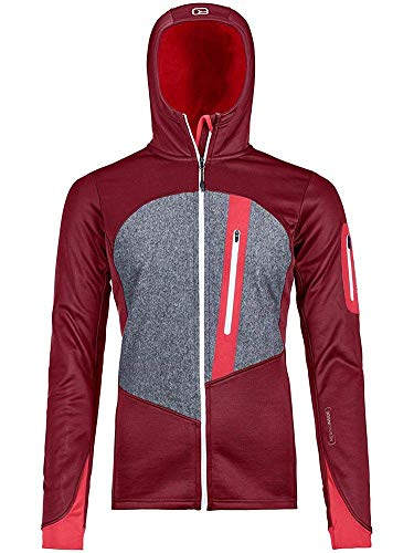 ORTOVOX Fleece Loden Hoody W Veste Femme, Rouge (Dark Blood), M