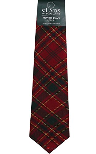 I Luv Ltd Munro Clan 100% Wool Scottish Tartan Tie