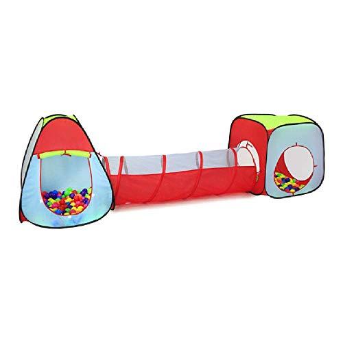 XYLUCKY Tienda De Túnel para Niños, Tienda De Campaña Emergente Duradera, Fácil De Configurar, para Niños, Niñas, Bebés, Niños Pequeños Y Mascotas, Uso En Interiores Y Exteriores