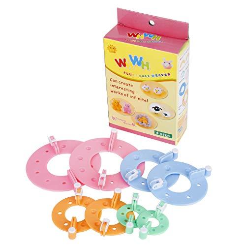 Pom Pom Maker 4 Größen Fluff Ball Weaver Nadel PomPom Maker Sets für Kinder oder Erwachsen