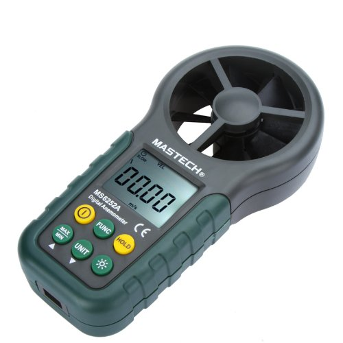 Docooler Mastech MS6252A Portable Digital Anemometer Handheld LCD Electronic Wind Speed Air Volume Measuring Meter Backlight