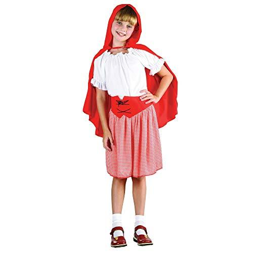 Red Riding Hood Fancy Dress kostuum (kindermaat) - L (bekleding)