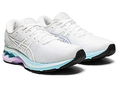 ASICS Women's Gel-Kayano 27 Running Shoes, 9M, White/Pure Silver