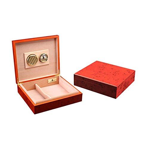 YINGGEXU Humidor de cigarros Caja de cigarros, Rojo de Rose humidor de Puros, cigarros Pequeño Gabinete, cálido y rollizo (Color: Amarillo, tamaño: 24,1 * 21,6 * 6,3 cm)