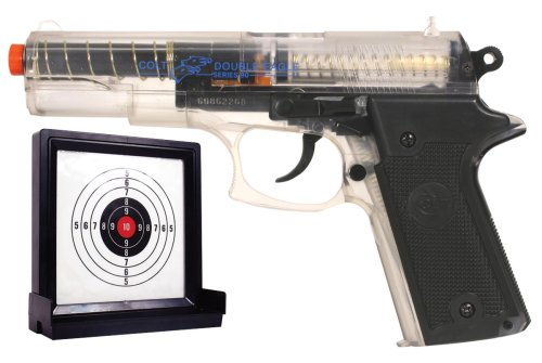 Soft Air Colt Double Eagle Spring Powered Airsoft Pistol with Target Clear