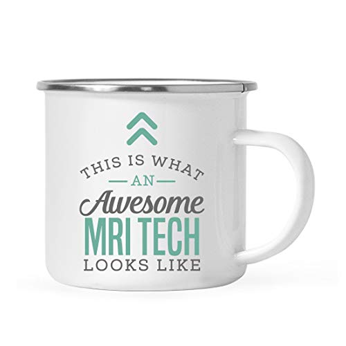 Andaz Press 11oz. Stainless Steel Campfire Coffee Mug Gift, This is What an Awesome MRI Tech Looks...