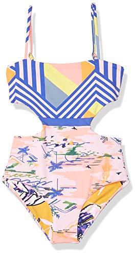 Maaji girls Set One Piece Swimsuit, Pink, 4 US