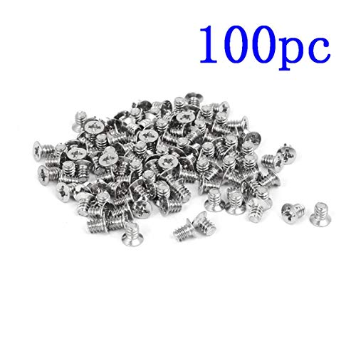 DeoMeat 100 x Flach Phillips Kopf-Festplatte Schraube 3,5-Zoll-HDD 6# -32 für PC Gehäuse