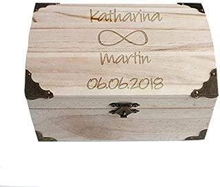 Geschenke.de Personalisierbare Schatztruhe Infinity - Geschenk für den Partner mit Gravur als personalisierte Hochzeitsgeschenke Geldgeschenk kreativ groß