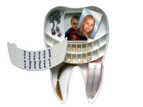 Pfiffig-Wohnen Milchzahn Box für Babyzähne und vieles mehr