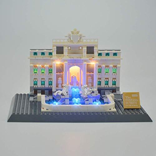 WDLY Kit De Iluminación En (Roma Fontana De Trevi) Bloques De Construcción De Modelos - Kit Luz Led Compatible con Lego 21020 (No Incluido El Modelo)