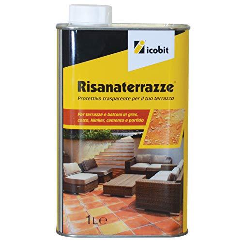 icobit Risanaterrazze-Protettivo impermeabilizzante per terrazze e balconi, 1 Litro