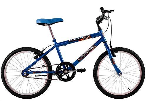 Bicicleta Infantil Aro 20 Masculina Cross Kids Azul